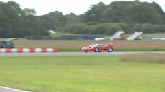 Ferrari F40 and porsche racing Stock Footage