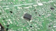 Circuit board and microprocesor Stock Footage
