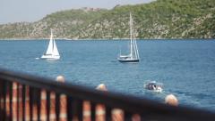 Sailboats in Kekova Stock Footage