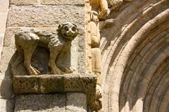monumental detail of cathedral santiago de compostela - stock photo