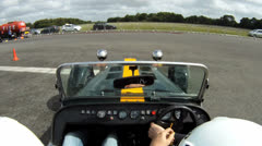 Caterham onboard camera 3 Stock Footage