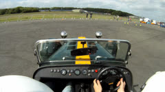Caterham onboard camera 2 Stock Footage