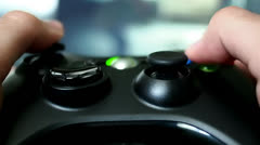 Playing Videogame With Controller Stock Footage