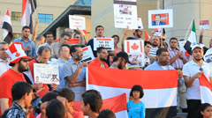 Egypt Protest Mississauga 4 Stock Footage