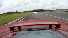 McLaren MP4-12c onboard camera 6 of 6 Stock Footage