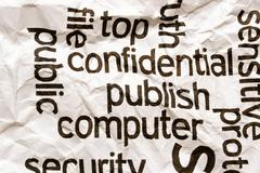 Confidential publish computer Stock Photos