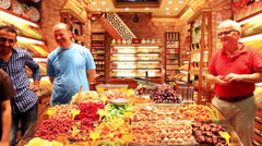 Spice shop at Egyptian Market - stock footage