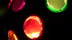 disco lights2 vertical - stock footage