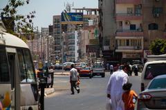 Hurghada street - stock photo