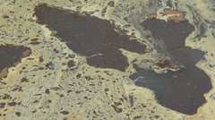 Polluted Brown Dirty Water Stock Footage
