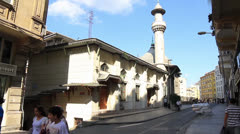 Hobyar Mosque, Sirkeci, Istanbul Stock Footage
