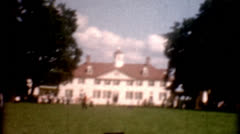 Old film 1950s Mount Vernon home of George Washington vintage historic Stock Footage