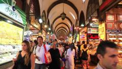 Istanbul Spice Market Stock Footage