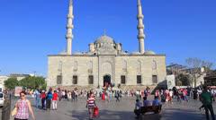 Eminonu Valide Sultan Cami Stock Footage