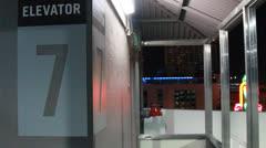 Parking garage elevator by Crest Theater - stock footage