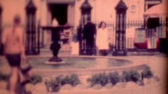 1950s old film Andrew Jackson Square travel destination vintage historic  - stock footage