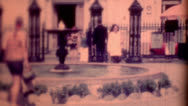 Stock Video Footage of 8mm Film 1960 Andrew Jackson Square clip 2