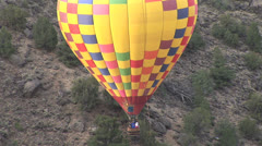 Rio Grand Gorge from Hot Air Balloon Taos New Mexico Stock Footage