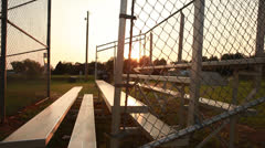 Small Town Baseball Bleachers - stock footage