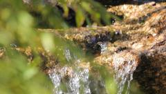 Water Flowing from a Stream 1 Stock Footage