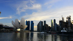 Marina Bay Sands Landscape Stock Footage