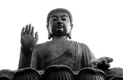 Big Buddha, Lantau Island, Hong Kong Stock Photos