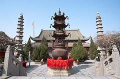 Temple of the Chief Minister, Kaifeng, China Stock Photos