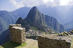Gate of Machu Picchu Stock Photos