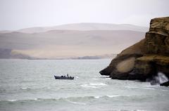 Fisherman in Paracas - stock photo