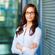 Portrait of a beautiful confident female executive Stock Photos
