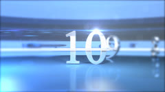 Chrome count down Stock Footage