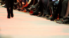 Fashion show at catwalk Stock Footage