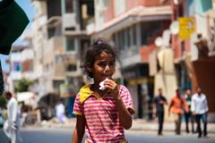 Egyptian child Stock Photos
