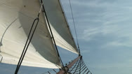 Stock Video Footage of Nautical vessel - Sailboat mast - Part 4