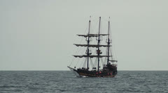 Pirate sail ship - Part 2 - stock footage