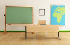 classroom - stock illustration