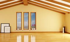 Empty attic Stock Illustration