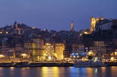 fishing port of oporto - stock photo