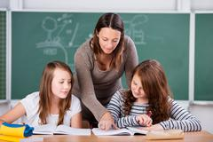 young students - stock photo