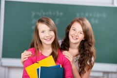 Two female students Stock Photos