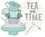 Stock Illustration of vintage morning tea time background