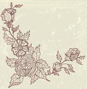 Stock Illustration of stylish floral background