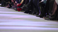 Fashion show at catwalk (fashion full) Stock Footage