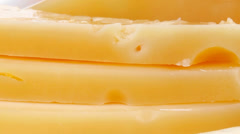 Aged french cheese parmesan roquefort and gruyere Stock Footage