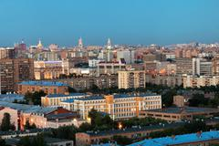 moscow in summer evening gloaming - stock photo