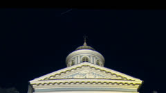 Armenian Church in St. Petersburg Night - stock footage