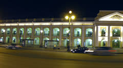 Gostiny Dvor in St. Petersburg Night - stock footage