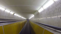 Underground horizontal conveyor - stock footage