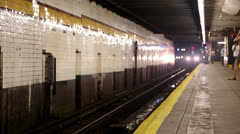 Manhattan-bound F train - 7th Avenue Station Brooklyn Stock Footage