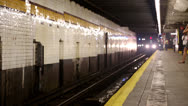 Stock Video Footage of Manhattan-bound F train - 7th Avenue Station Brooklyn